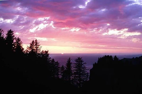sunset at sunset beach, oregon - photo credit nps