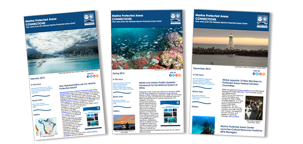 Newsletters | National Marine Protected Areas Center